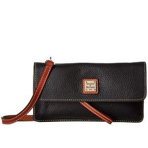 Dooney & Bourke black pebble Milly crossbody bag